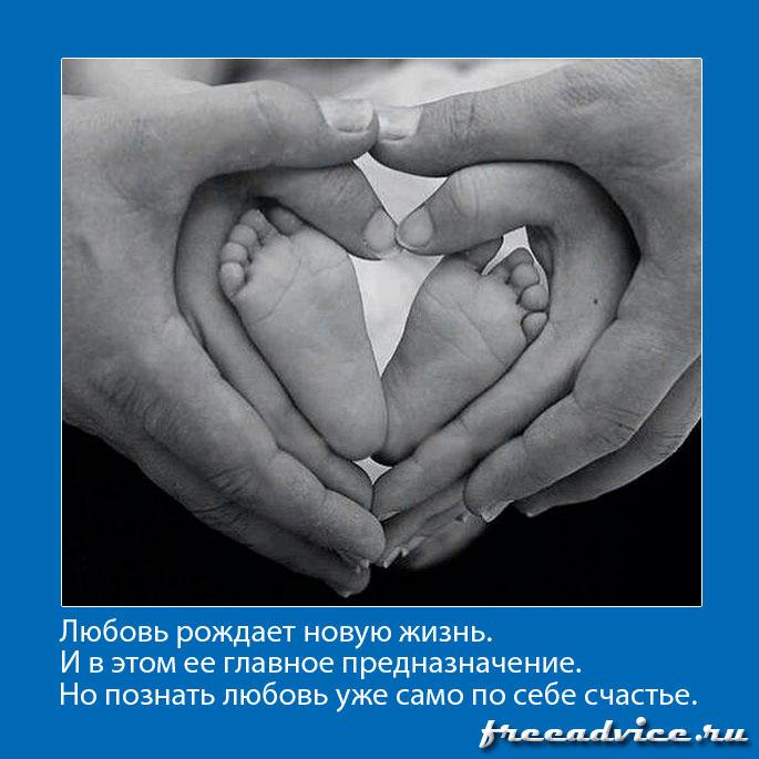 Любовь рождает новую жизнь и в этом ее главное предназначение
